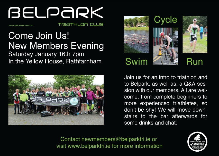 Belpark Triathlon Club Open Night