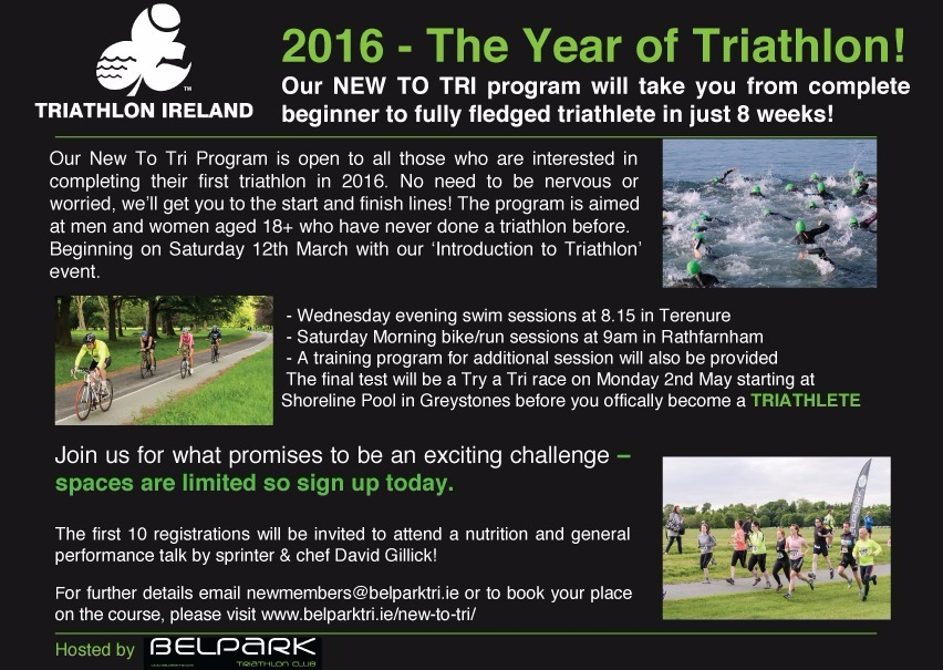 Belpark New to Tri