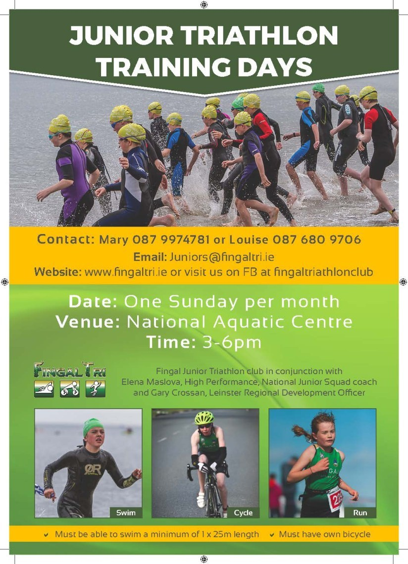 Fingal Tri Junior Training Poster