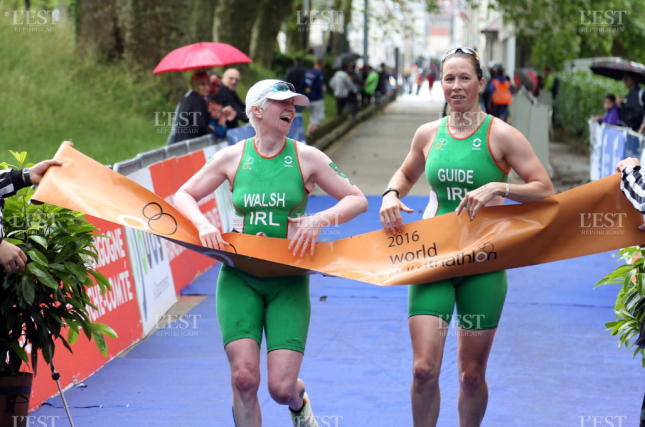 Catherine and Fran Finish Line Besancon 2016