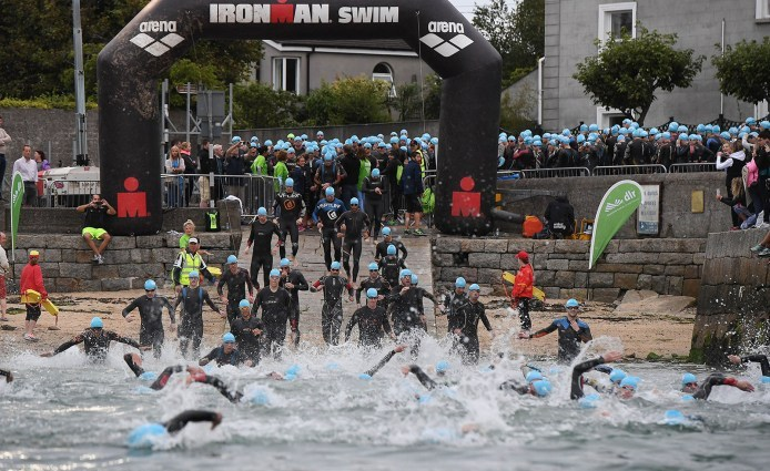 Ironman 70.3 Dublin Swim Start