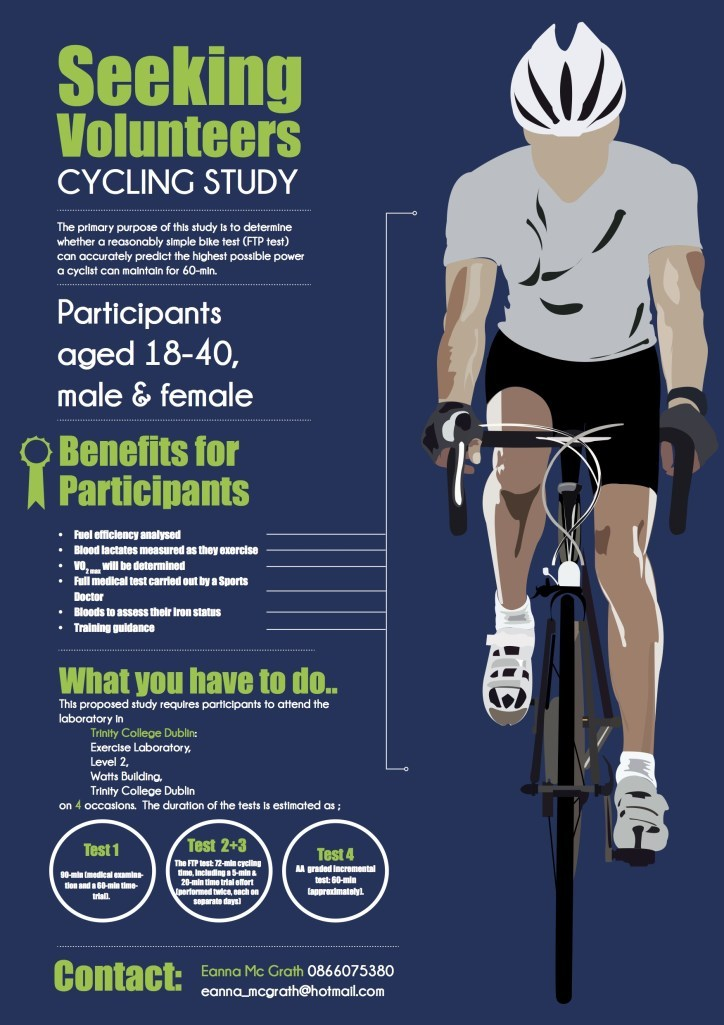 Cycling Study - Volunteers Needed
