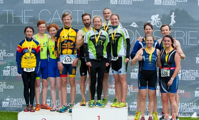 Mixed Relay Champs Podium