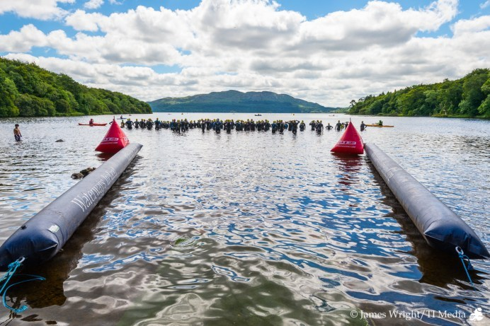 Hazelwood Triathlon 2017 Swim Start