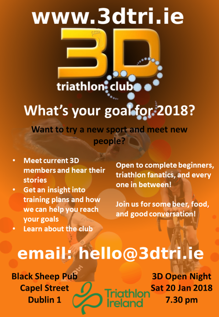 3D Tri Club Open Night