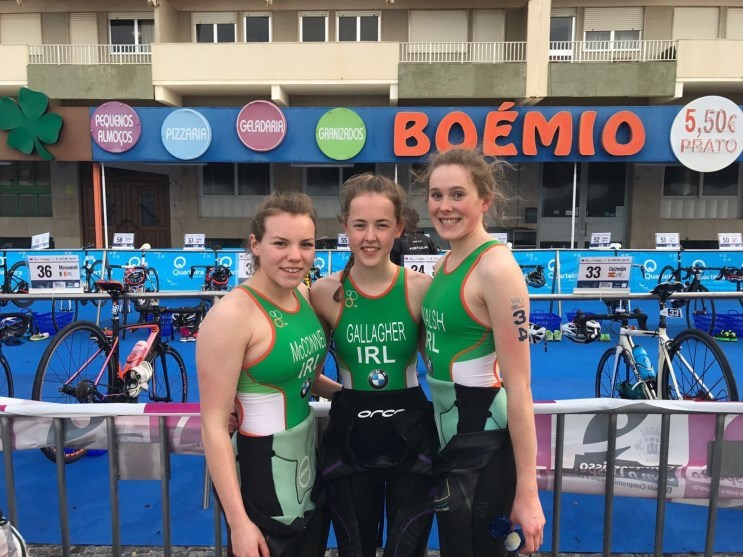 Erin McConnel, Maeve Gallagher, Orla Walsh ETU Quarteria 2018