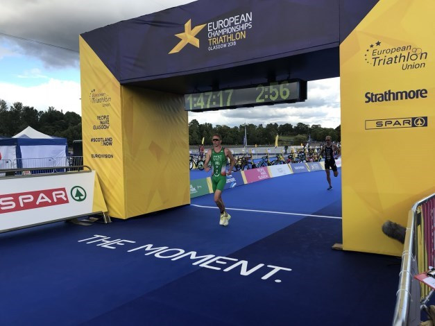 Russell White Glasgow 2018 Finish Line