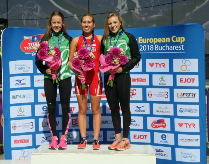 Bucharest Podium_Maeve G & Erin