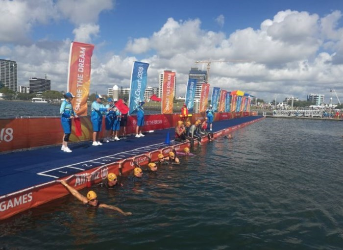 Commonwealth Games PTWC Swim Start